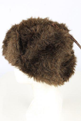 Fur Ushanka Hat Vintage Unisex Brown -HAT1896-152098
