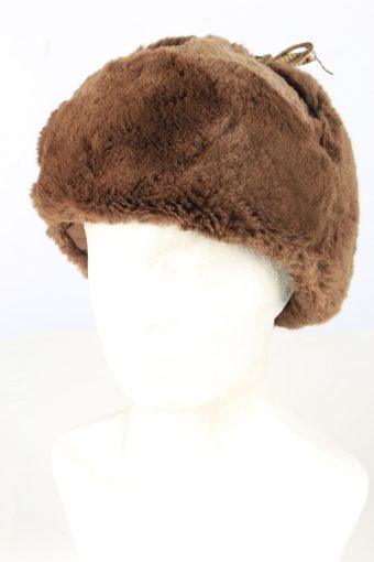 Genuine Fur Trapper Hunter Hat Vintage Unisex