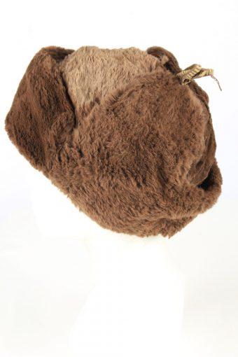 Genuine Fur Trapper Hunter Hat Vintage Unisex Brown -HAT1899-152110