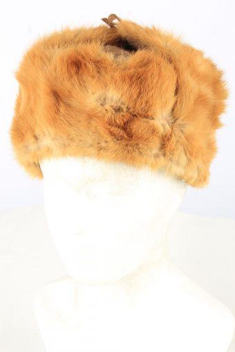 Fur Suede Ushanka Hat Vintage Unisex