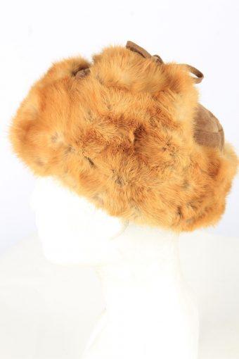 Fur Suede Ushanka Hat Vintage Unisex Brown -HAT1907-152142