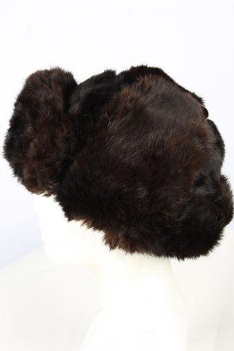 Fur Ushanka Hat Vintage Unisex Dark Brown -HAT1908-152146