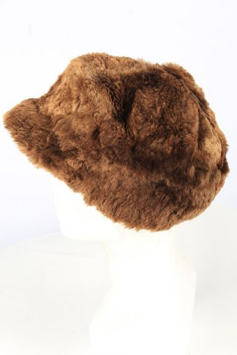 Furry Winter Hat Vintage Unisex Brown -HAT1914-152167