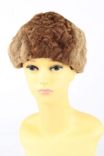 Faux Fur Cossack Hat Vintage Womens