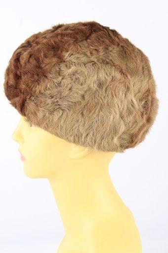Faux Fur Cossack Hat Vintage 1990s Womens Brown -HAT1915-152177