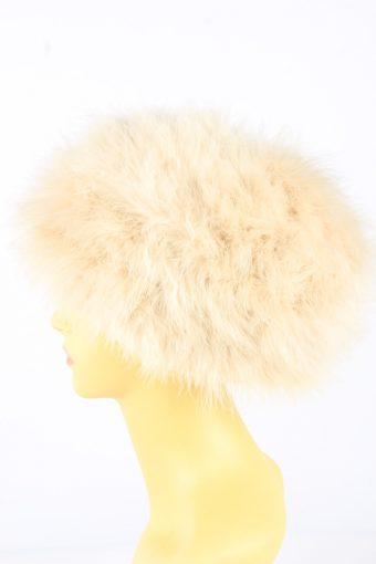 Feather Hat Vintage 1990s Womens Beige -HAT1918-152189