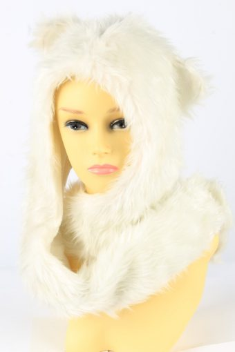 Dog Ear Hat With Scarf Vintage Womens