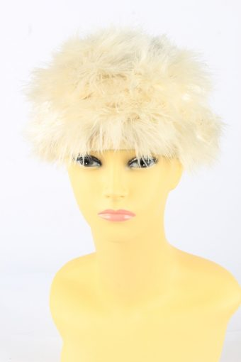 Feather Lined Hat Vintage Womens
