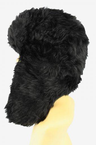 Russian Faux Fur Hat Vintage 1990s Womens Black -HAT1930-152237