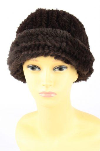 Furry Beanine Hat Vintage Womens
