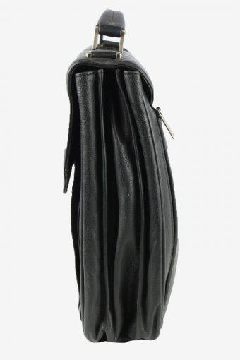 C. Combertri Leather Briefcase Bag Unisex Vintage 1990s Black -BG1188-154611