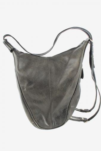 Leather Shoulder Hand Bag Womens Vintage 1990s Black