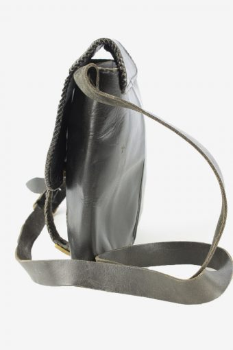 Leather Adjustable Shoulder Bag Womens Vintage 1990s Black -BG1202-154667