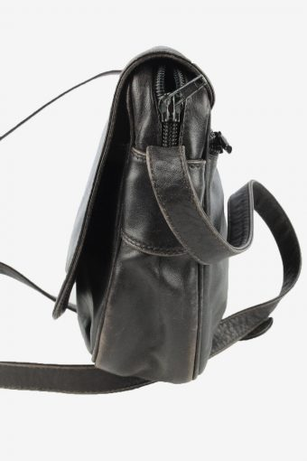 Leather Adjustable Shoulder Bag Womens Vintage 1990s Black -BG1203-154671
