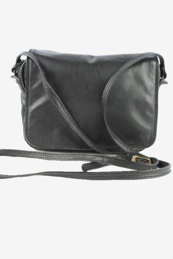 Leather Adjustable Shoulder Bag Womens Vintage 1990s Black
