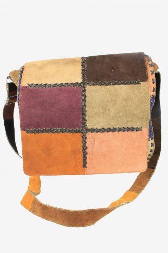 Leather Shoulder Bag Womens Vintage 1990s Multi