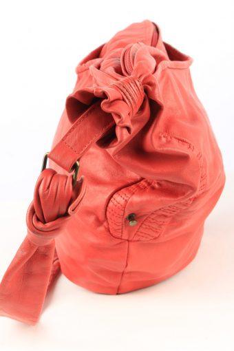 Leather Shoulder Bag Womens Vintage 1990s Red -BG1224-154878