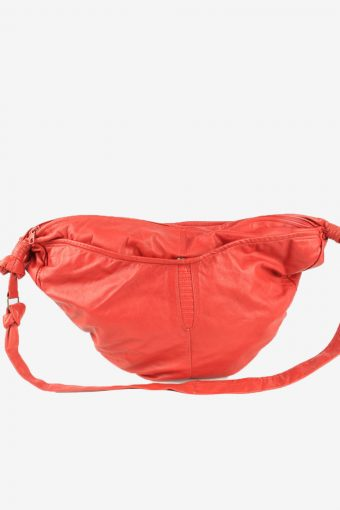 Leather Shoulder Bag Womens Vintage 1990s Red