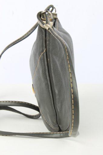 Leather Mini Shoulder Bag Womens Vintage 1990s Grey -BG1227-154890