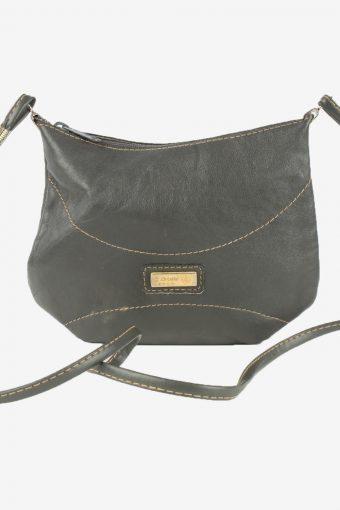 Leather Mini Shoulder Bag Womens Vintage 1990s Grey