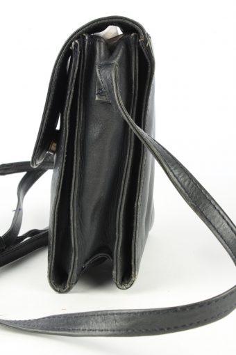 Leather Mini Shoulder Bag Womens Vintage Funbag 1990s Black -BG1228-154894