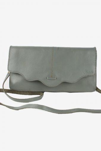 Leather Mini Letter Bag Womens Vintage Mabelle 1990s Grey