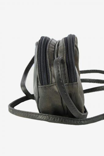 Leather Mini Shoulder Bag Womens Vintage Funbag 1990s Black -BG1233-154914