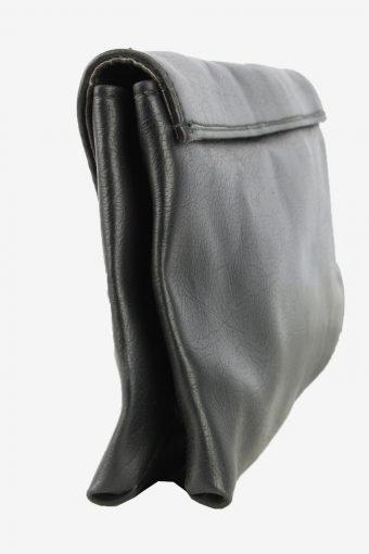 Leather Mini Hand Bag Purse Womens Vintage 1990s Black -BG1237-154930