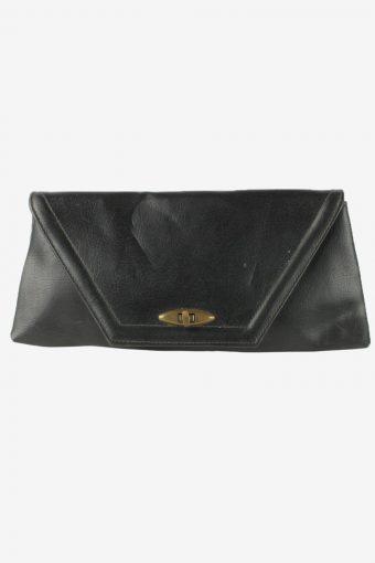 Leather Mini Hand Bag Purse Womens Vintage 1990s Black