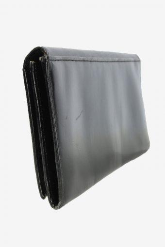 Leather Mini Hand Bag Purse Womens Vintage 1990s Black -BG1240-154942