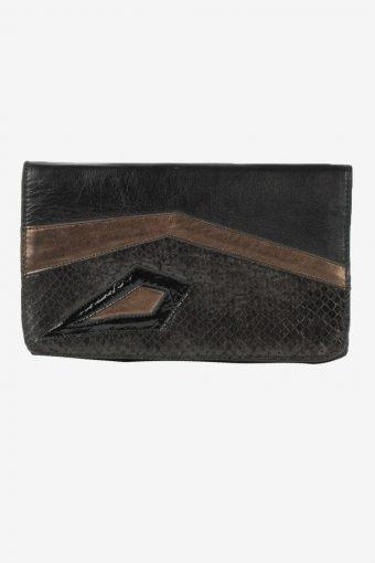 Leather Purse Womens Vintage 1990s Black