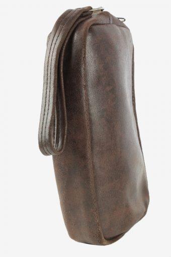 Leather Mini Hand Bag Unisex Vintage Samsonite 1990s Brown -BG1244-154958