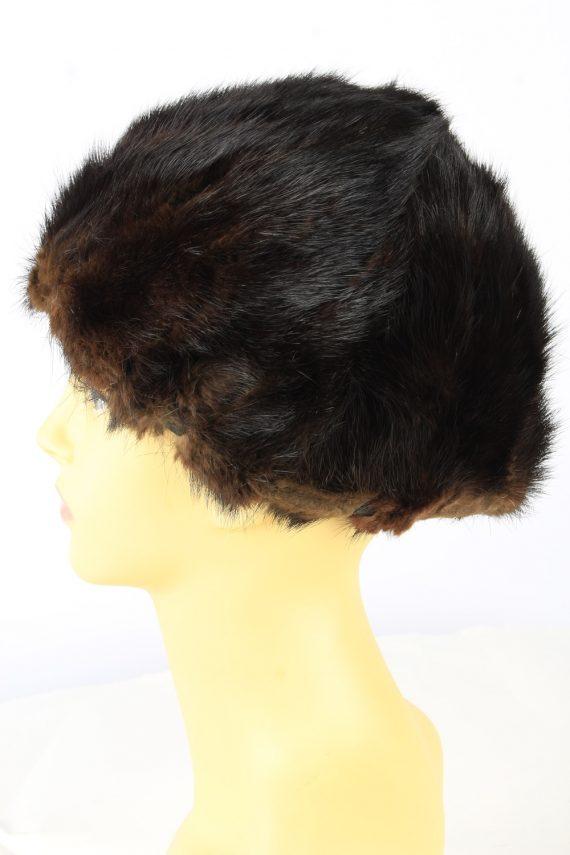 Russian Fur Cossack Hat Vintage Womens 1980s Brown -HAT1856-151848