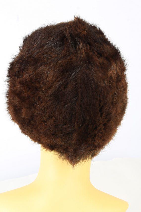 Russian Fur Cossack Hat Vintage Womens 1980s Brown -HAT1858-151857