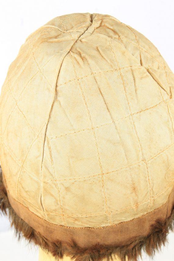 Russian Fur Cossack Hat Vintage Womens 1980s Brown -HAT1858-151858