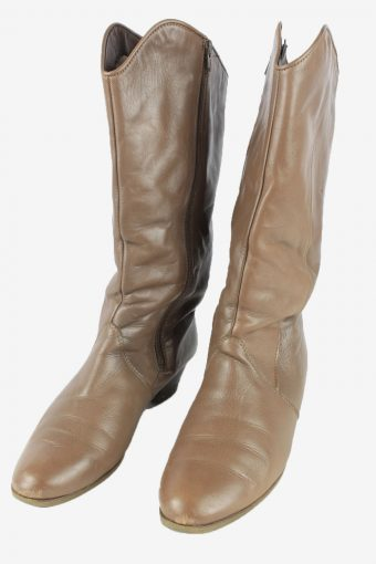Ara Leather Long Boots Vintage Womens Size UK 8 Brown