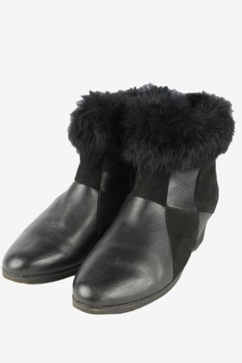 Marco Leather Zipped Boots Vintage Womens Black
