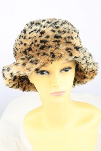 Brim Leopard Hat Vintage Womens