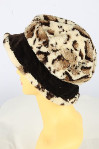 Brim Winter Soft Hat Vintage Womens 1990s Brown -HAT1737-150904