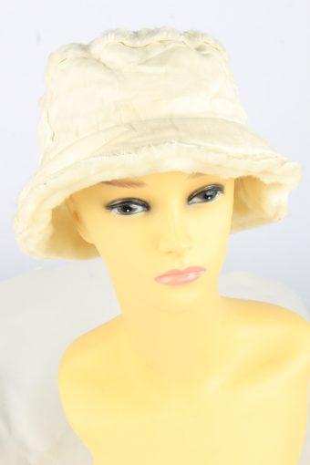 Brim Furry Hat Vintage Womens