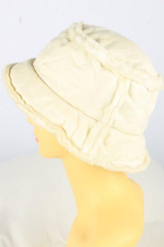 Brim Furry Hat Vintage Womens 1990s White -HAT1738-150908