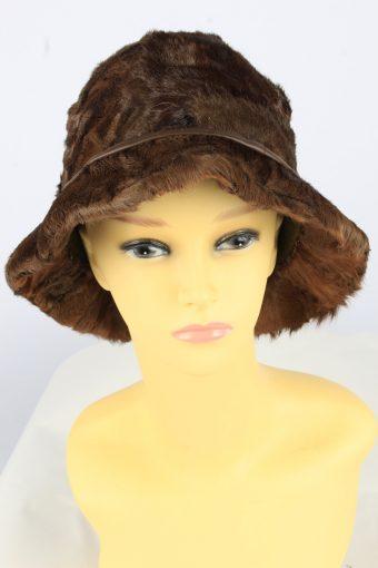 Brim Furry Leopard Hat Vintage Womens