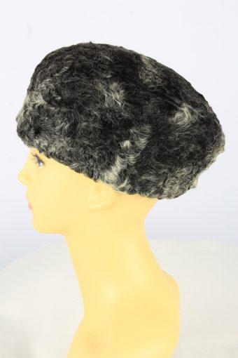 Russian Style Winter Hat Vintage Womens 1990s Grey -HAT1743-150928