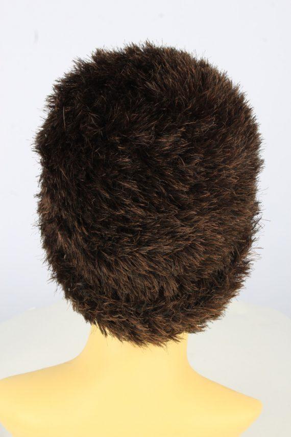 Furry Beanie Winter Hat Vintage Womens 1990s Brown -HAT1745-150937