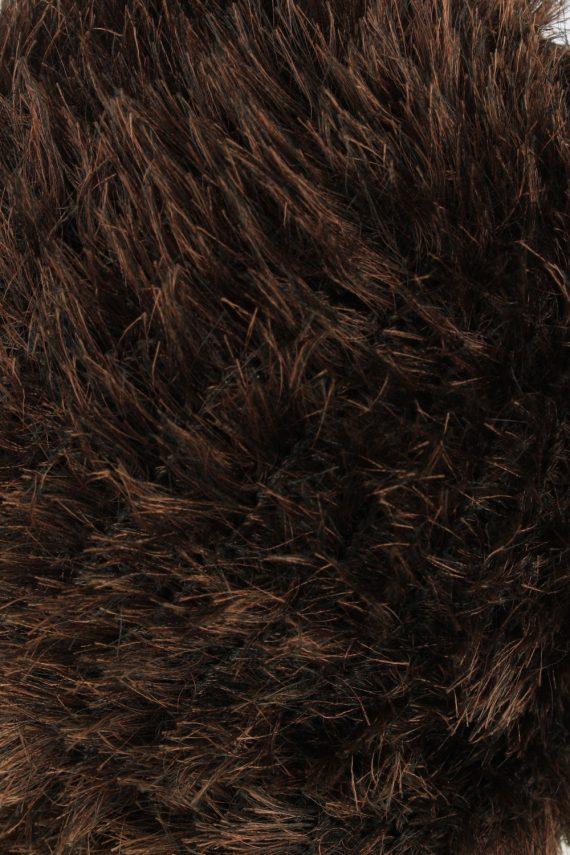 Furry Beanie Winter Hat Vintage Womens 1990s Brown -HAT1745-150938