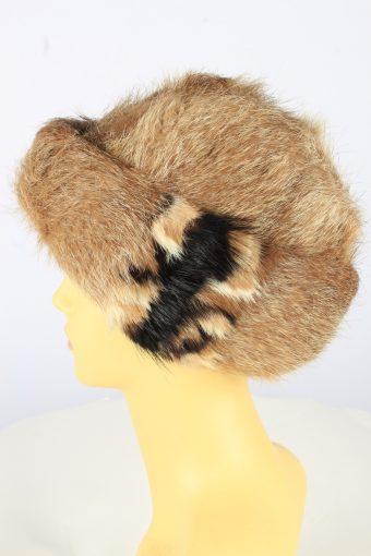 Russian Fur Cossack Hat Vintage Womens 1990s Brown -HAT1750-150956