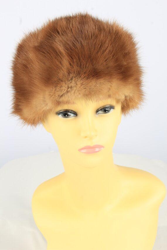 Russian Fur Cossack Hat Vintage Womens 1990s Brown -HAT1754-0