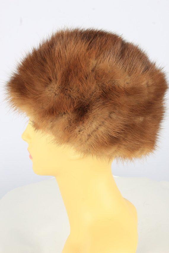 Russian Fur Cossack Hat Vintage Womens 1990s Brown -HAT1754-150972