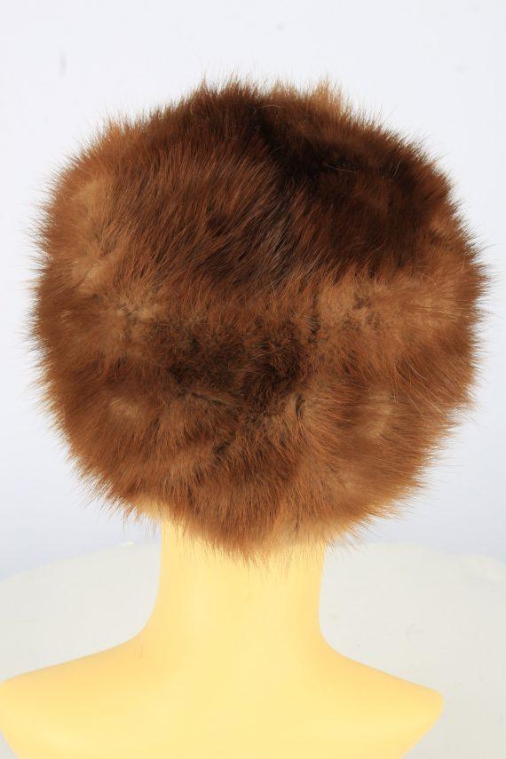 Russian Fur Cossack Hat Vintage Womens 1990s Brown -HAT1754-150973