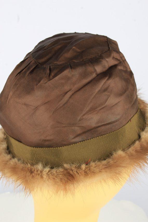 Russian Fur Cossack Hat Vintage Womens 1990s Brown -HAT1754-150974